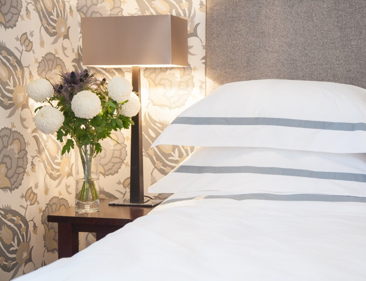 Beautifully presented bed in showhome