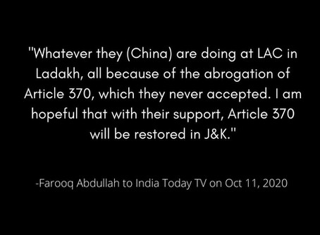 Farooq Abdullah's delusion, denial and deception on Article 370