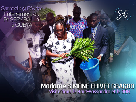 PROFESSEUR SERY BAILLY : MADAME SIMONE EHIVET GBAGBO PARTICIPE AUX OBSÈQUES A GUEYA
