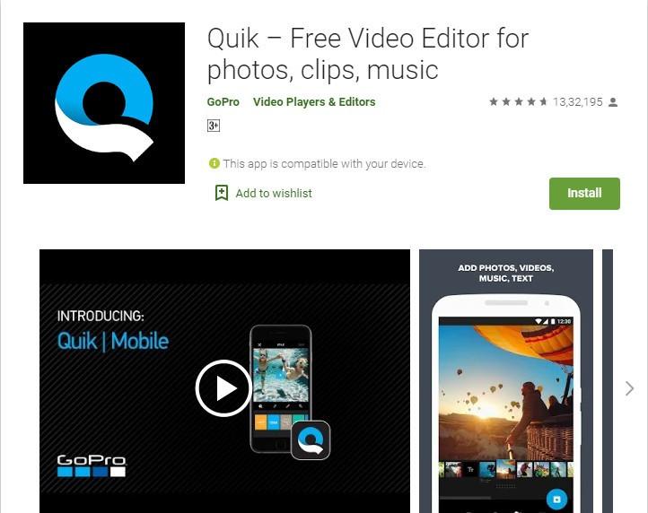 Quik Video editing App
