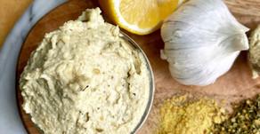 Dairy-Free Roasted Garlic Cashew Cream Cheese
