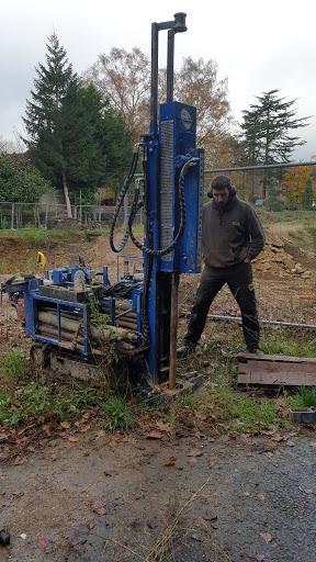 10m deep borehole for soil testing