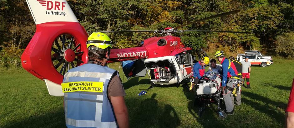 Motocross-Fahrer benötigt nach Sturz Bergwacht