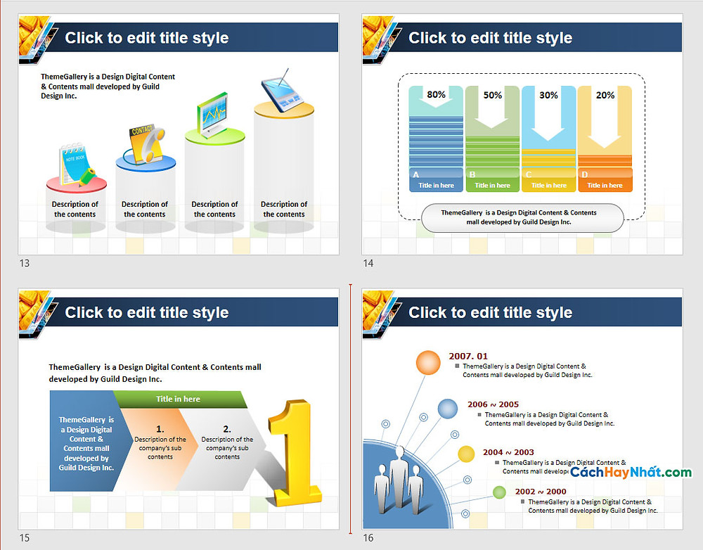 PowerPoint Template 581TGp_gold_light