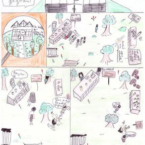 Jeanne et Louna animent les halles d'Angoulême à leur manière