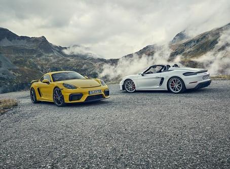 Porsche anuncia chegada do 718 Cayman GT4 e do 718 Spyder no Brasil