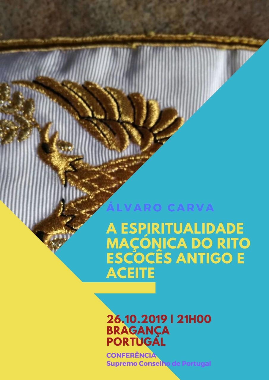 Maçonaria - Conferência | Álvaro Carva, Supremo Conselho de Portugal