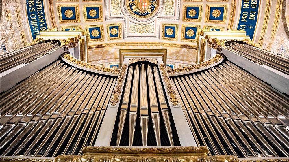 Láser Escáner 3D: Órgano de la Basílica de La Merced - Barcelona - Nube de puntos
