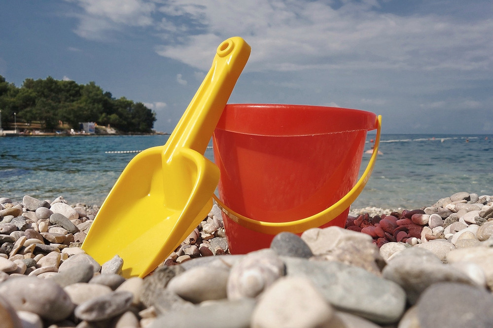 Kid friendly beach near Makarska Riviera in Croatia