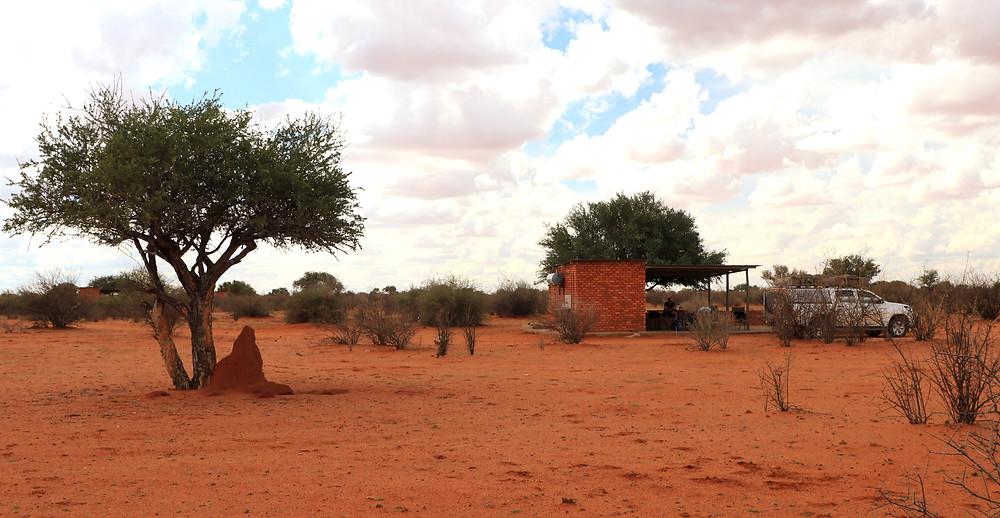 Übernachtung auf einem Camp in der Kalahari