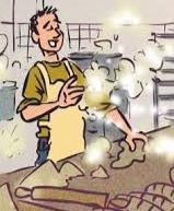"""Los panaderos sufrían el llamado """"asma del panadero"""" , dada su constante exposición a la harina de los cereales."""