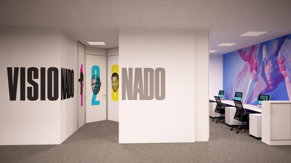 Decoración de oficinas con gráfica aplicada