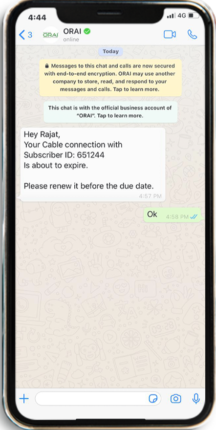 Renewal notifications on Whatsapp using drip Campaign