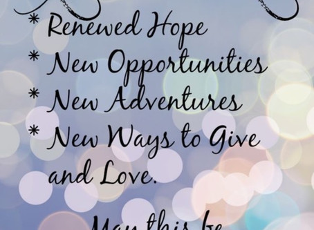 New Year, New Beginnings, New  Opportunities!!