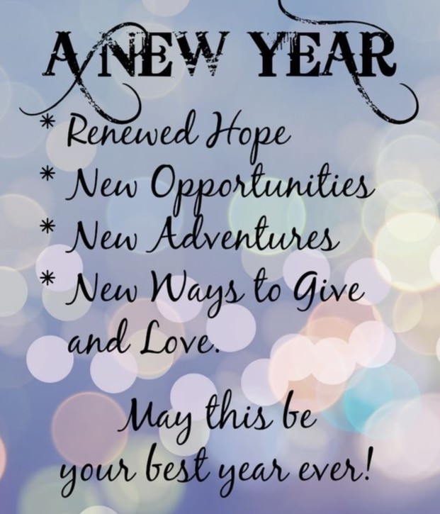 A New Year with Renewed Hope & Opportunities