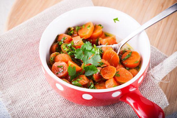 Recept na dušenou mrkev