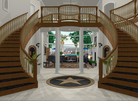 #Mediterranean Grand Staircase Renderings