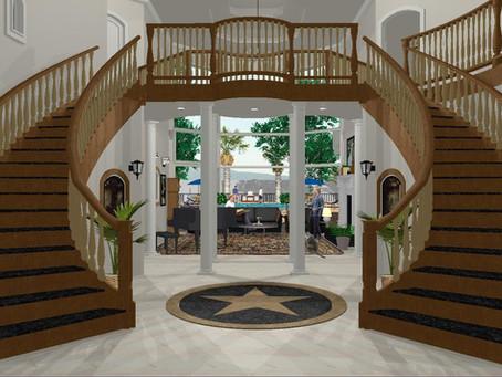 #Mediterranean Grand Staircase Renderings