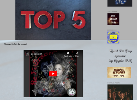 """Be Yourself"" on Top 5 - Music Borders Radio"