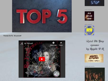 """Be Yourself"" on Top 5 - Music Borders Radio"