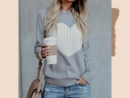 Zulily Cable Knit Heart Sweater