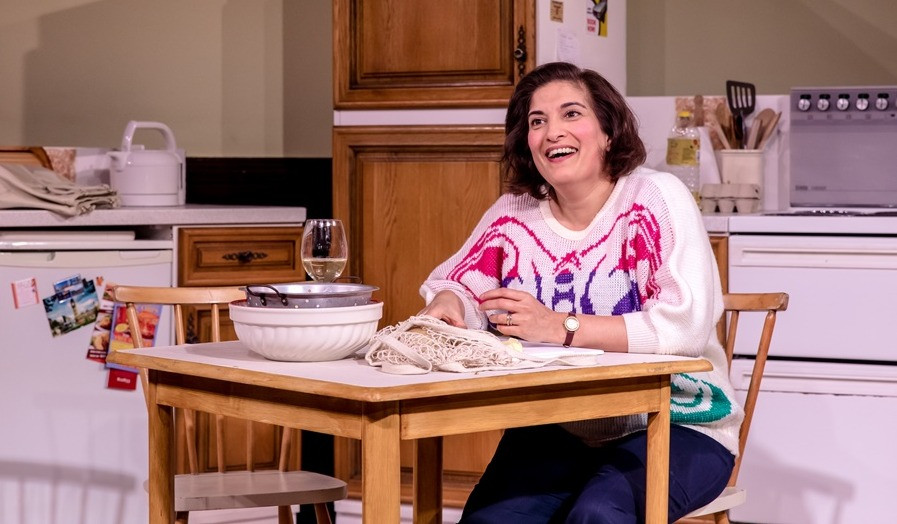 Mina Anwar stars as Shirley Valentine, the fed-up housewife in Willy Russell's play of that name. An Octagon production at the LIbrary Theatre Bolton, directed by Lotte Wakeham. All pics by The Other RIchard.