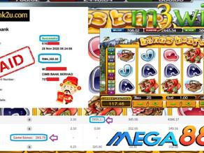 Bonus Bear slot game tips to win RM4300 in Mega888