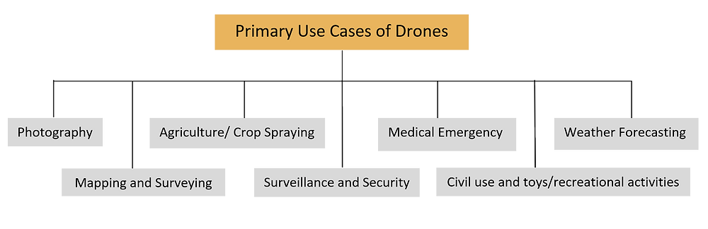 Primary uses of Drones, Drones