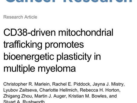 New research from the lab just published in Cancer Research