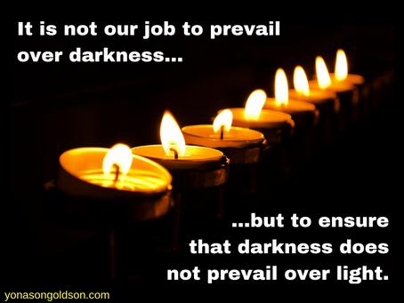Light amid darkness