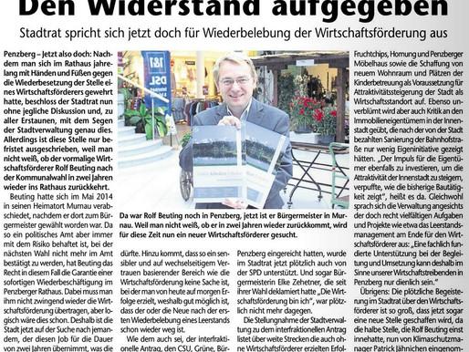 Das Gelbe Blatt: Stadtrat spricht sich für Einstellung eins Wirtschaftsförderers aus