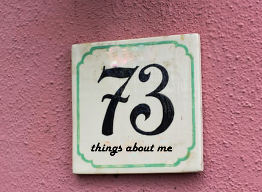 73 Things About Me - A Blogger's Version of Vogue's 73 Questions