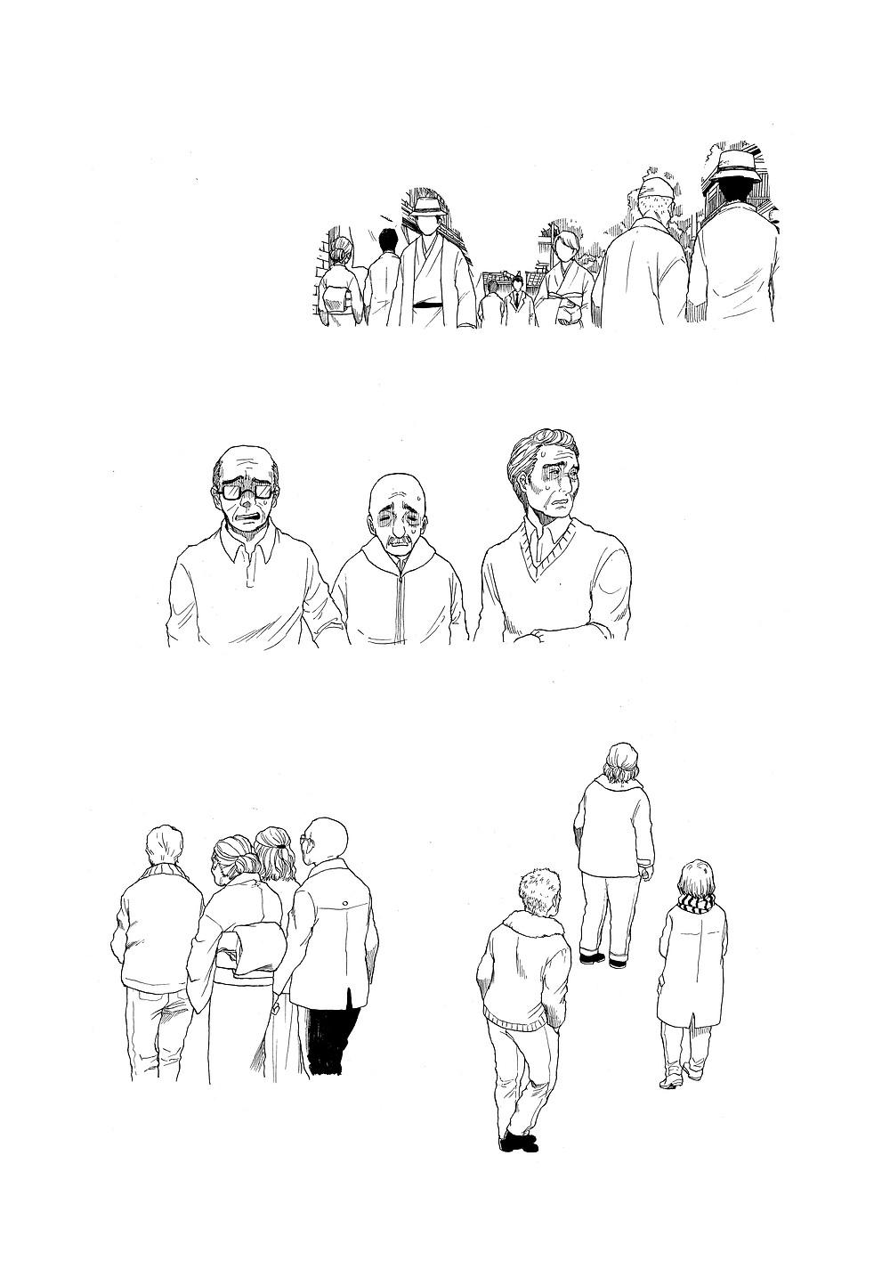 漫画に使われたモブの一部