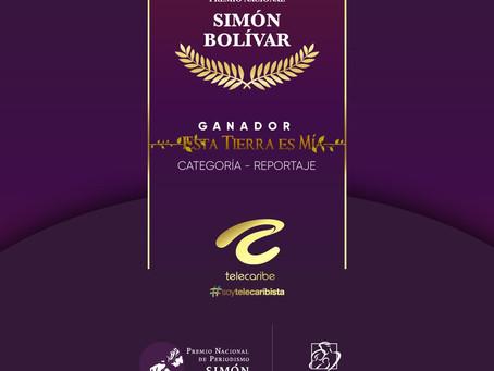 """Comunicado 83:Telecaribe gana Premio Nacional de Periodismo Simón Bolívar con """"La Lección de Angelin"""