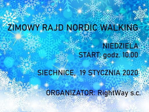 "Zimowy RAJD NORDIC WALKING ""Dycha Siechnicka"" 19.01.2020"
