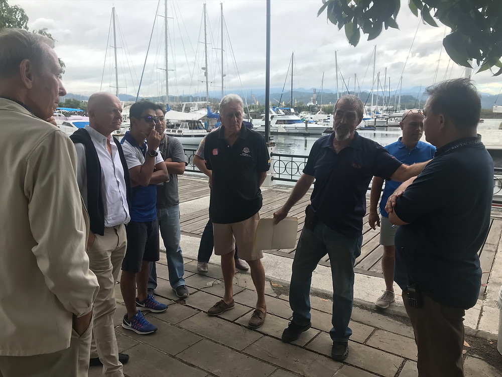 Coordination Meeting at the Subic Bay Yacht Club last December 14 with Jerry Rollin, Competition Manager for Sailing in the SEA Games; Charlie Manzoni, World Sailing Technical Deligate; Members and Officers of the Subic Sailing Club; representatives from the Philippine Windsurfing Team, Subic Bay Yacht Club Management, and SBMA Tourism Department.
