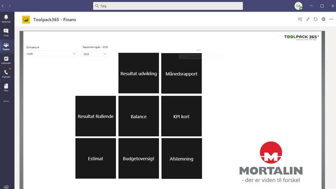 Toolpack 365, Power BI og Teams er som skabt til den mobile arbejdsplads
