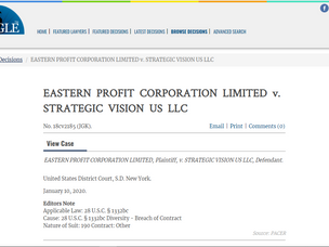 东利公司与战略视野公司法律文件及中译