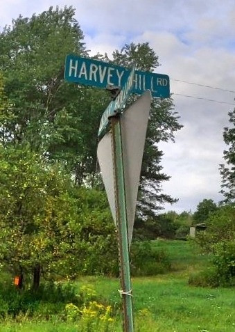 Harvey Hill Road street sign