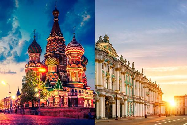 Где быть русской столице? Москва или Санкт-Петербург