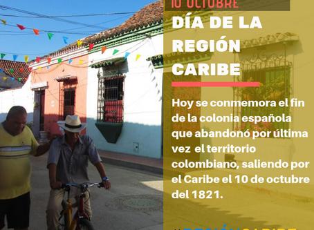 """Hoy 10 de octubre se conmemora el """"Día de la Región Caribe"""""""