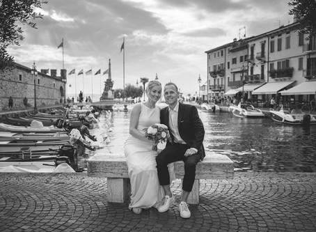 Hochzeitsfotograf in Lazise, Gardasee. Fotoshooting romantische.