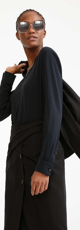 Silk charmeuse blouse