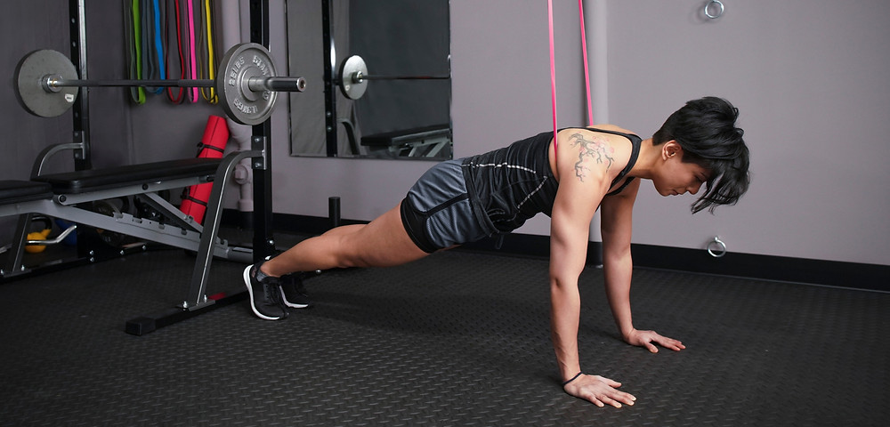 Power Resistance Band Push Ups