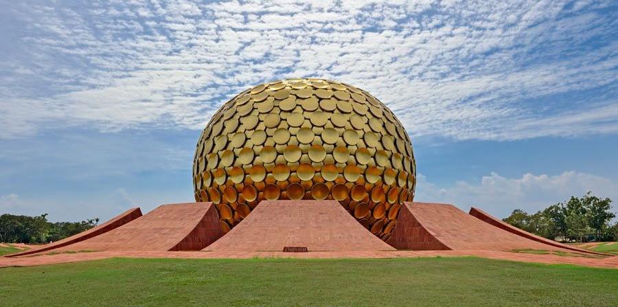 Brixel Architecture Auroville India Township Independent Matrimandir Spiritual Travel Tourism