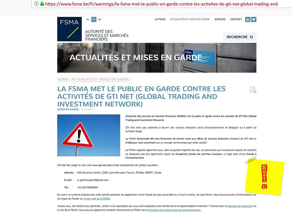 GTI-Net fraude pyramidale