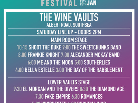 The Wine Vaults Stage Times!