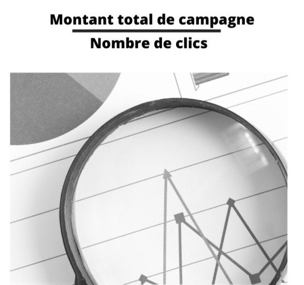 montant total de campagne divisé par nombre de clics