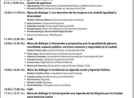 Seminario Internacional Mujeres por la Ciudad [Santiago de Chile - 15/11]