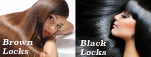 The real difference between brown hair and black hair.